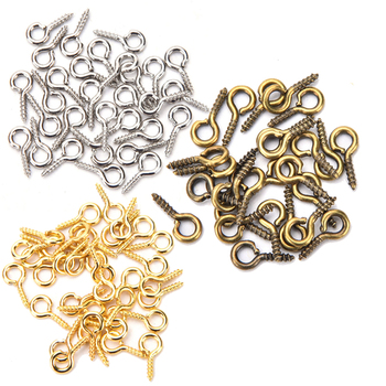 100 sztuk 8mm 10mm Mini szpilki z oczkiem Eyepins haki oczka gwintowane biżuteria metalowa zawieszka klamrami DIY akcesoria do wyrobu biżuterii tanie i dobre opinie HUXUAN NONE CN (pochodzenie) Woodworking Other