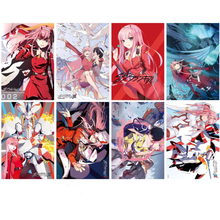 Darling in the FRANXX Posters Japanese Anime Poster Art Prints for Home Wall Decor, Set of 8 PCS, 11.5in x16.5in