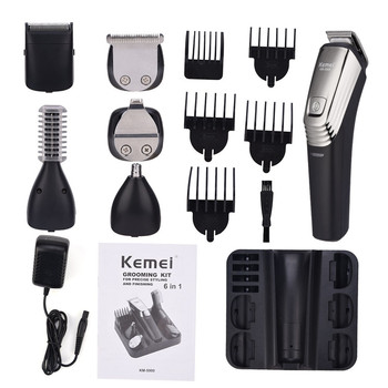 original kemei km 605 washable rechargeable electric hair clipper trimmer shaving razor cordless ultra quiet razor haircut Kemei KM-5900 Rechargeable Hair Clipper Shaving Machine Beard Trimmer  Eyebrow Shaver Electric Razor Men's Grooming Kit De Aseo