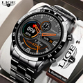 LIGE 2021 New Smart Watch Men Full Touch Screen Sport Fitness Watch IP67 Waterproof Bluetooth For Android ios smartwatch Men2021