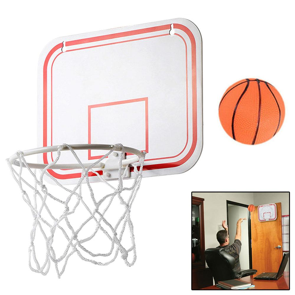 TOP Portable Funny Mini Basketball Hoop Toys Kit Indoor Wall-Mounted Home Basketball Fans Sports Game Toy Set For Kids Children