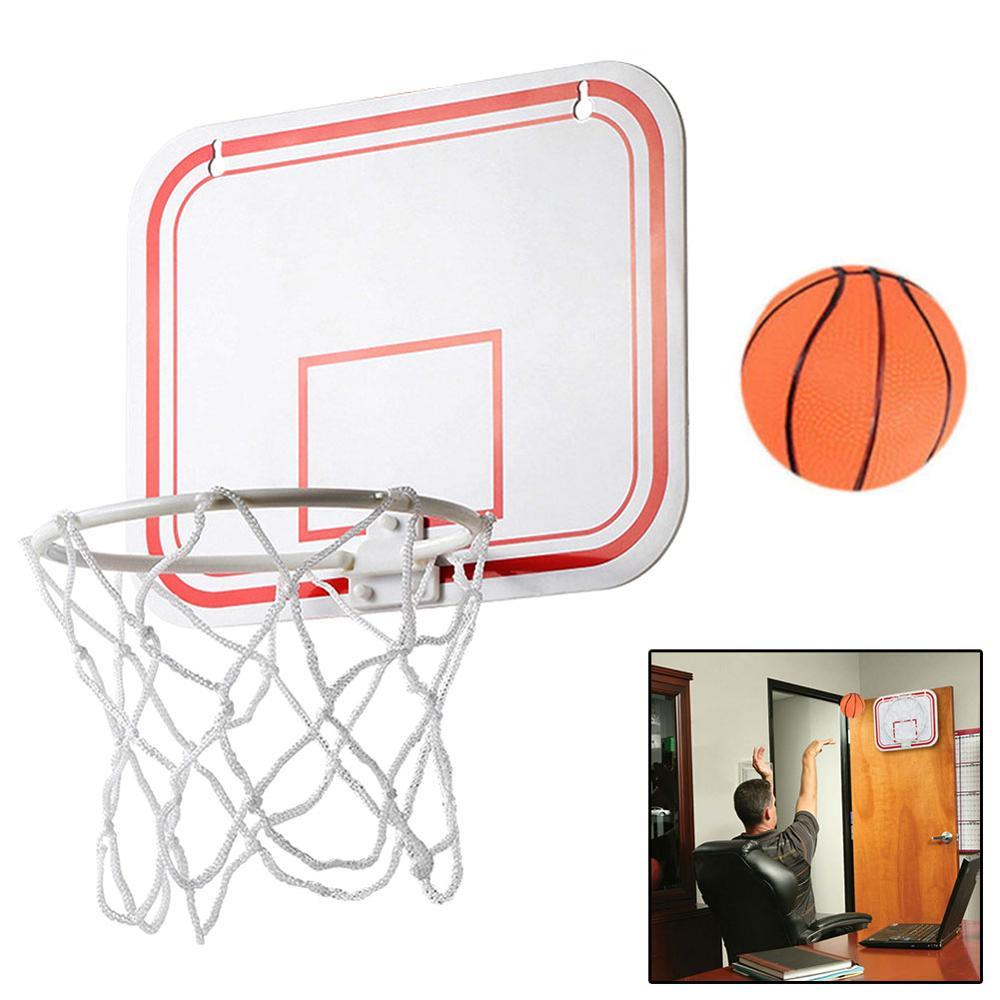 Топ портативный Забавный мини баскетбольный набор игрушек для дома, настенный домашний баскетбольный мяч для фанатов, спортивная игра, наб...