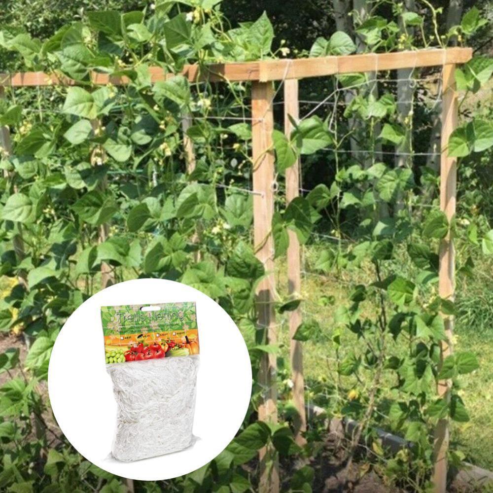 Ev ve Bahçe'ten Bahçe Ağı'de Örgü 5/10m Polyester Net lif kabağı örgü sabah zafer asma çiçekler bahçe bitkileri tırmanma ağı salatalık asma büyümek tutucu title=
