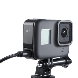 Image 5 - Заряжаемая крышка аккумуляторного отсека, крышка аккумуляторного отсека для камеры GoPro Hero Black 8 S port s, съемный адаптер для зарядного порта Type C