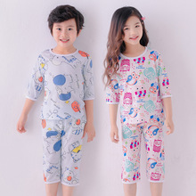 Summer Girls Boys Pajamas Sets Children's Clothing Suits T-s