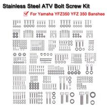 купить Pro Polished Stainless Steel Atv Bolt Screw Kit For Yamaha YFZ350 YFZ 350 Banshee по цене 8425.98 рублей