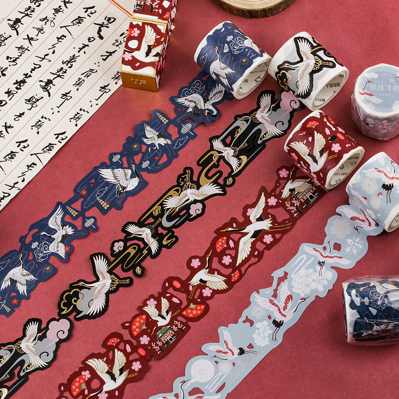 1 Pc Vintage Washi Tape Masking Tape Retro Chinese Style Hollow Paper Washi Tape Scrapbooking Dairy Journal Ablum Decoration