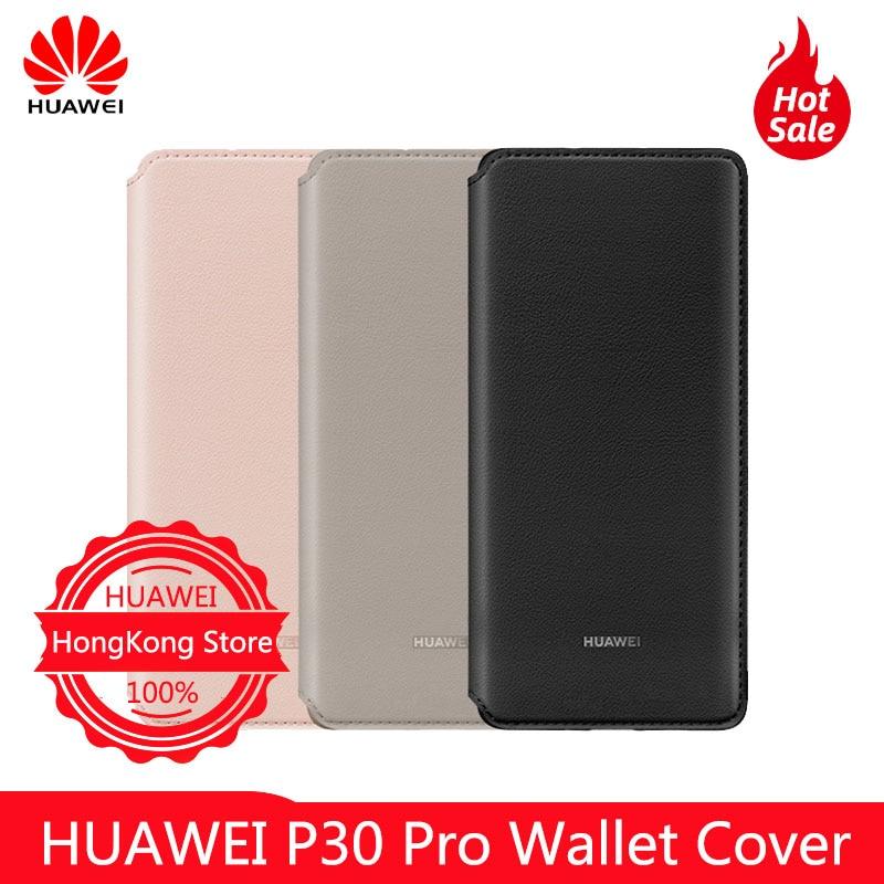 100% Original HUAWEI P30 Pro portefeuille housse de protection entièrement équipée coque de protection anti-chute étui en cuir personnalisation officielle