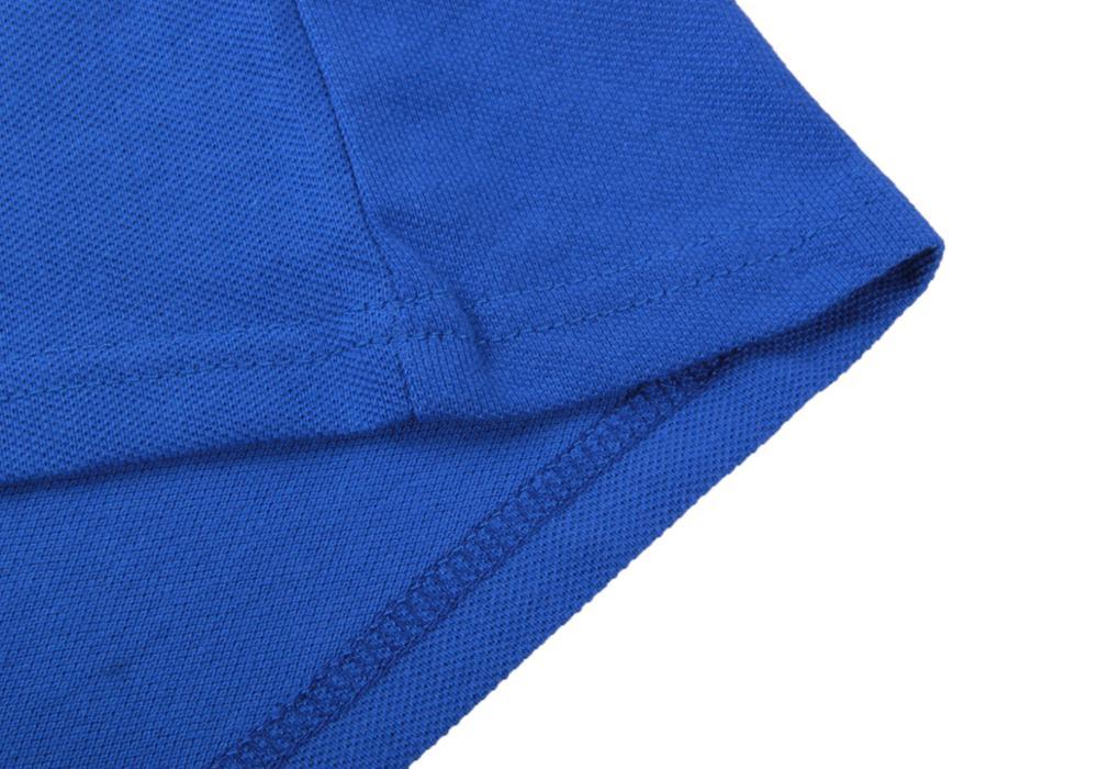 Image 3 - Мужская летняя рубашка поло, брендовая Модная хлопковая рубашка поло с коротким рукавом, мужские однотонные майки из дышащего ДжерсиПоло   -