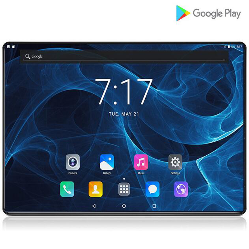 Global 10 Inch 2.5D Tablet PC Octa Core 6GB RAM 64GB 128GB ROM 1280*800 IPS 6000mAh Android 9.0 Dual Sim 3G LTE Tablets 10.1