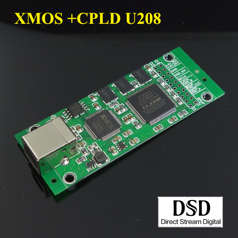 WEILIANG AUDIO XMOS + CPLD U208 USB zu I2S digital interface 384 kHz/<font><b>32bit</b></font> DSD256 image