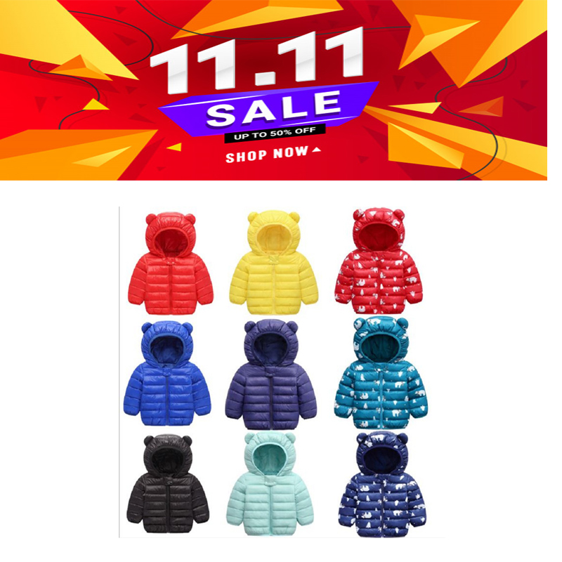infant boy winter Warm clothes kids baby girls hooded coat Cartoon costume 2020 fashion children Outerwear Clothing cottons 0-5Y 1