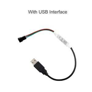 Image 3 - Mini intensité de la bande lumineuse LED SP002E 3 clés, connecteur JQ, DC5V 24V et LED de contrôle, pour WS2812B WS2811 WS2812 Pixel
