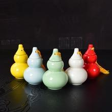 Small Ceramic Gourd Jar Sealed Spice Bottle Tea sealed bottle Seasoning tool pardeep kumar bottle gourd mosaic virus
