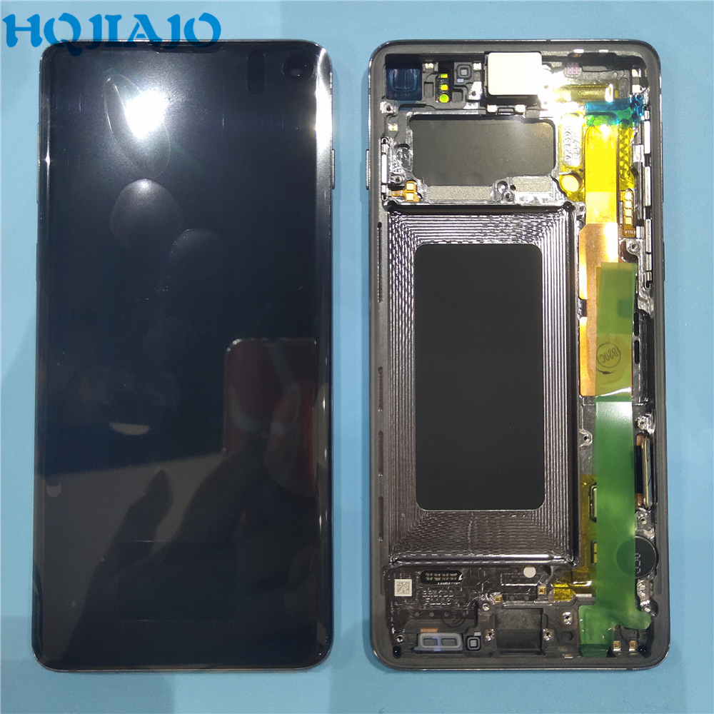 Original <font><b>LCD</b></font> For <font><b>Samsung</b></font> <font><b>S10</b></font> SM-G9730 G973F <font><b>LCD</b></font> Display Touch <font><b>Screen</b></font> Digitizer For <font><b>Samsung</b></font> <font><b>S10</b></font> 2019 SM-G9730 G973F <font><b>LCD</b></font> image