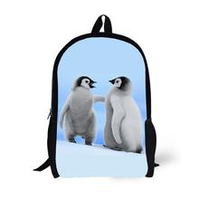 Penguin Printing Backpack Children School Bags For Teenager Boys Girls Backpacks Laptop Backpack Bookbag 17 Inch Mochila