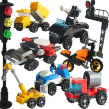 Legoing Technic City Car Train Police Tank Road Roller Crane Rocket Jet Sports Car Traffic light Toy Set Legoing Building Blocks(China)