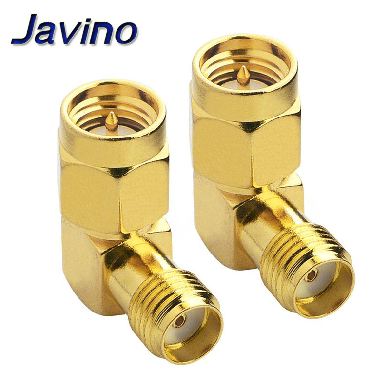 SMA to Connector 90 Degree Right Angle Male Female Adapter Screw the Needle