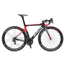 Rower szosowy SAVA wyścigi rower szosowy z włókna węglowego z rekordem CAMPAGNOLO EPS przekładnia elektryczna Shiftting prędkości rower szosowy tylko 7 4kg tanie tanio Mężczyzna 150-180 cm 7 5 kg Pokój v hamulca 0 1 m3 Nie Amortyzacja Zwyczajne pedału Rama twardego (nie tylny amortyzator)