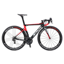SAVA Highway Bike Racing Carbon Fiber Highway Bike with CAMPAGNOLO RECORD EPS electrical Gear Shiftting Speeds Highway Bike 7.4kg Solely