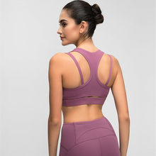 High impact Vest-style Beauty back Shockproof Running Sports Bras Yoga Tops Fitness Women's Gym Underwear Sportswear(China)
