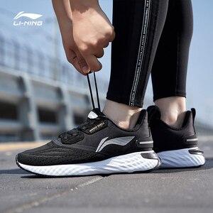 Image 3 - Li Ning Men LN CLOUD V SHIELD Cushion Running Shoes WATERSHELL LiNing Waterproof Sport Shoes Sneakers ARHP143 SOND19