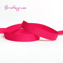 BRISTLEGRASS 5 Yards 6mm 10mm 15mm 20mm 25mm 40 mm Grosgrain Bänder Blume Bowtie Hochzeit weihnachten Party Dekoration DIY Handwerk(China)