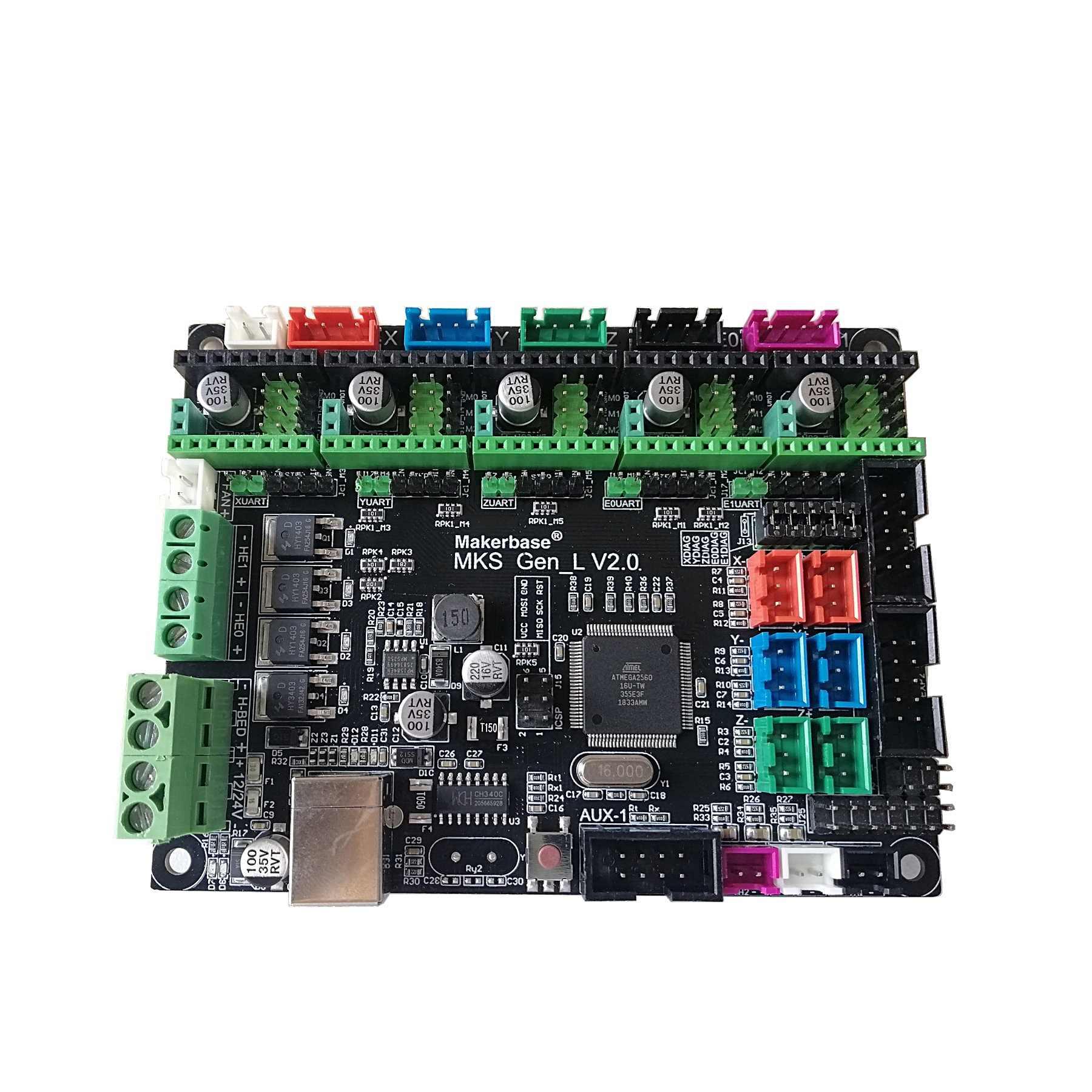 MKS Gen L V2.0 3D Máy In Shield Bảng Điều Khiển Mainboard DIY Bộ Khởi Đầu Hỗ Trợ Phẩm 2208 2209 8825 Phẩm 2100 2130 Dual Giàn Phơi