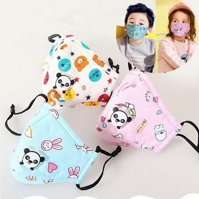 PM2.5 Washable Mouth Mask With Valve Kids Children Anti Haze Dust Mask Nose Filter Face Muffle Bacteria Flu Respirator 1