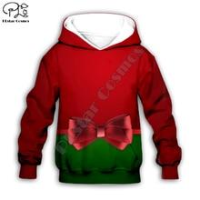 Kids baby Merry Christmas Santa claus costumes 3D print cartoon hoodie Sweatshirt zipper pullover boy girl plus size christmas kind santa claus sweatshirt