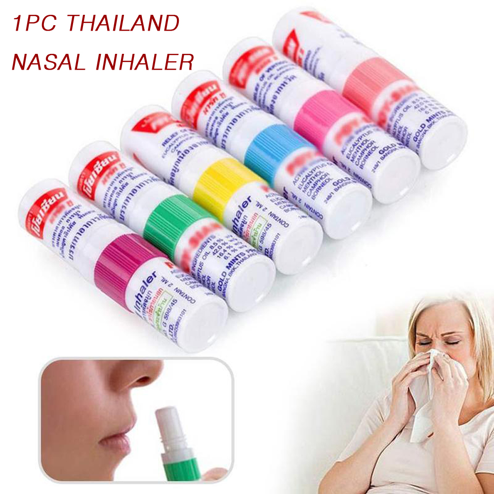 Thailand Nasal Inhaler Herbal Nasal Inhaler Stick Mint Cylinder Oil Branching Breezy Asthma Motion Sickness Nasal Congestion