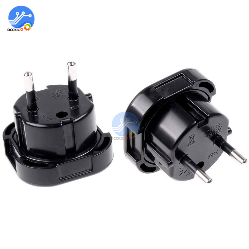 Universal Travel Adapter UK to EU Wall AC Power Charger Adapter Outlet Converter Power Socket Plug Black Adaptor Connector