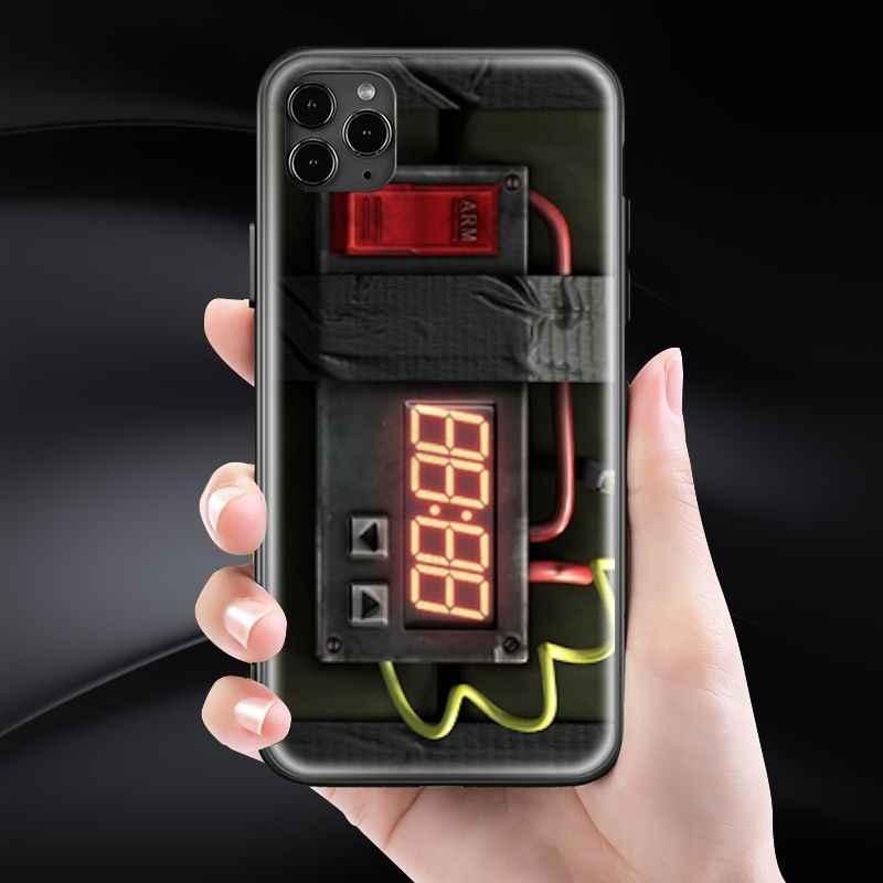 끈적 끈적한 폭탄 아이폰 SE 6 6s 7 8 플러스 X XR XS 11 12 미니 프로 맥스 s 강화 유리 전화 케이스 커버 소프트 실리콘