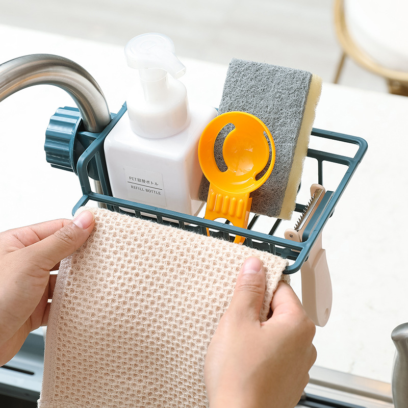 Kitchen Organizer And Storage Sink Faucet Sponge Soap Cloth  Storage Bathroom Organizer Kitchen Soap And Sponge Holder