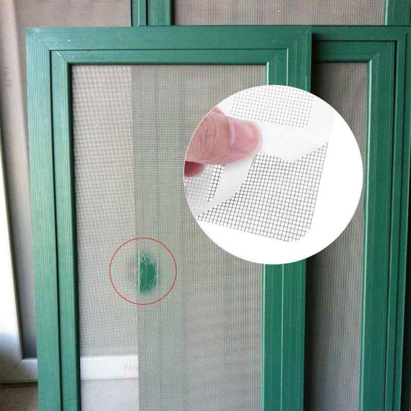 3 piezas Anti-insectos mosca puerta Bug ventana mosquitera red reparación cinta parche Auto adhesivo reparación cinta ventana accesorios de reparación