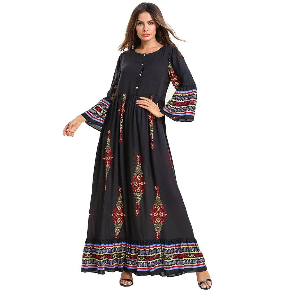 Boho vêtement Lactation coton jupe longue Longuette Ukraine grande taille Robe musulmane Robe Femme caftan abaya turquie
