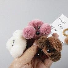Head-Rope Hair-Tie Teddy Baby-Girl Children's Felt Cute Cartoon 3D KF150 Plush-Ball