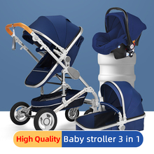 High landscape Baby Stroller 3 in 1 with Car Seat Folding Baby