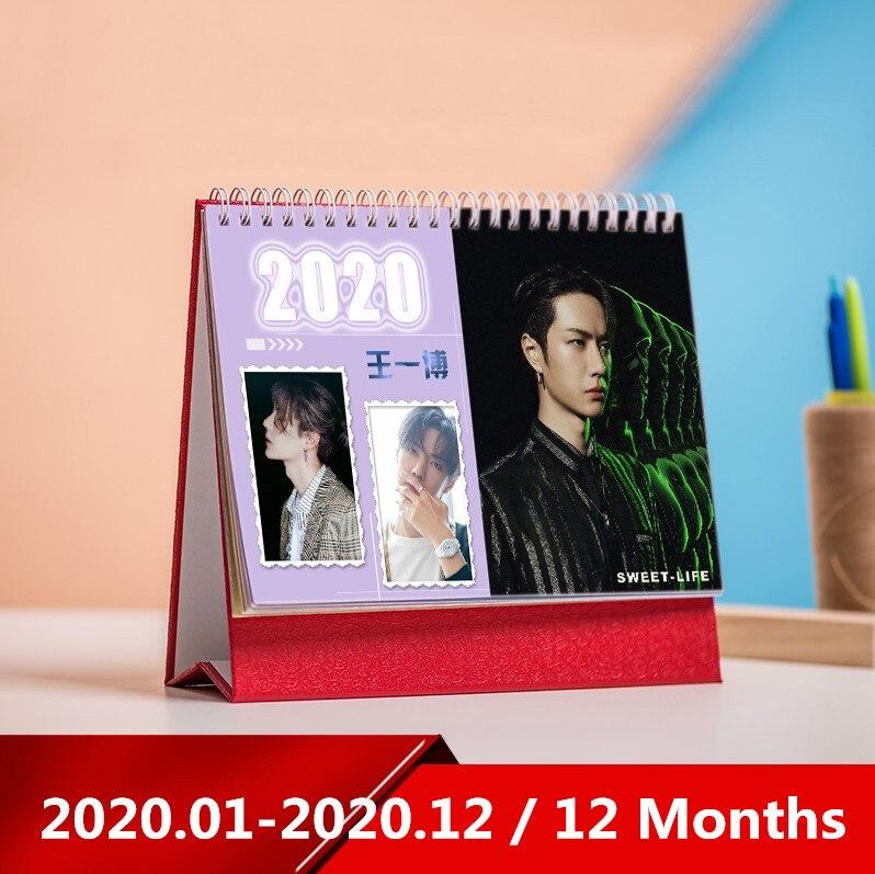 Star Desk Calendar Xiao Zhan Wang Yibo Desktop 2020 Calendar Daily Schedule