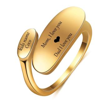 Personalized Customized Engrave Name Ring Stainless Steel Mens Signet Rings Family Male Engagement Wedding Rings uny ring 925 sterling silver mother customized engrave rings family heirloom ring anniversary personalized love birthstone rings