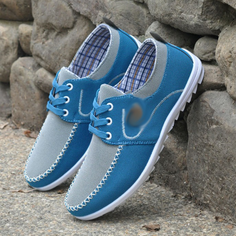 REETENE 2021 комфорт Мужские туфли для вождения однотонные Цвет мужские кроссовки осень дышащая мужская обувь большой Размеры 48 парусиновая обувь для мужчин