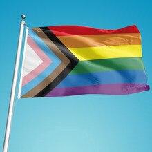 Drapeau Gay arc-en-ciel, 90x150cm, pour la fierté des lesbiennes