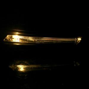 Image 2 - LLEEPEE 22mm בר ידית עם איתות אור 7/8 אופנוע יד משמרות מוטוקרוס LED אור יד משמר מגן windproof APair