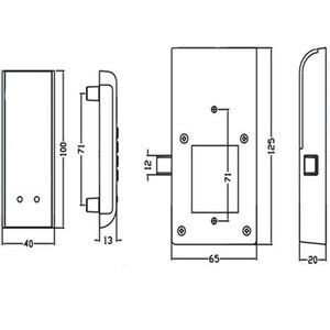 Image 3 - ホームドア抗盗難キーパッドパスワードキャビネットロック引き出し安全デジタル電気保護オフィスワードローブステンレス鋼
