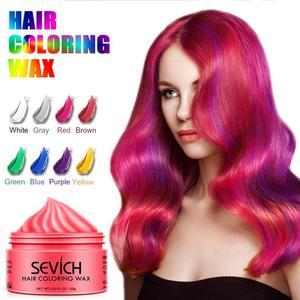 Image 4 - Sevich 120g Disposable Hair Color Wax Styling DIY Mud Paste Dye Cream Hair Gel Salon Unisex Hair Coloring Molding Dye TSLM2