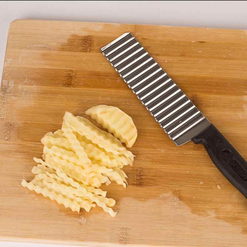 Картофель фри резак из нержавеющей стали морковь лезвие Строгальщик для овощей нож для фруктов волновой нож Чоппер кухонные инструменты поставщик