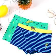 Новинка года; одежда для плавания для мальчиков; От 2 до 12 лет; детская одежда для плавания; плавки в полоску из нейлона и спандекса для мальчиков; детские купальные костюмы синего и зеленого цвета