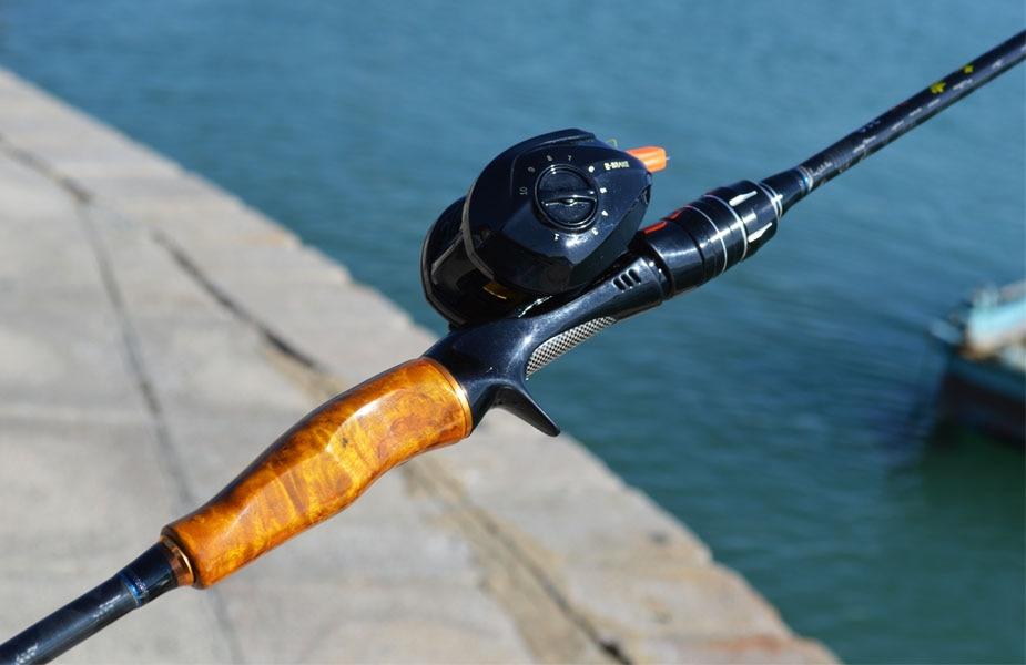 de pesca jigging 1.8m 2.1m 2 seção