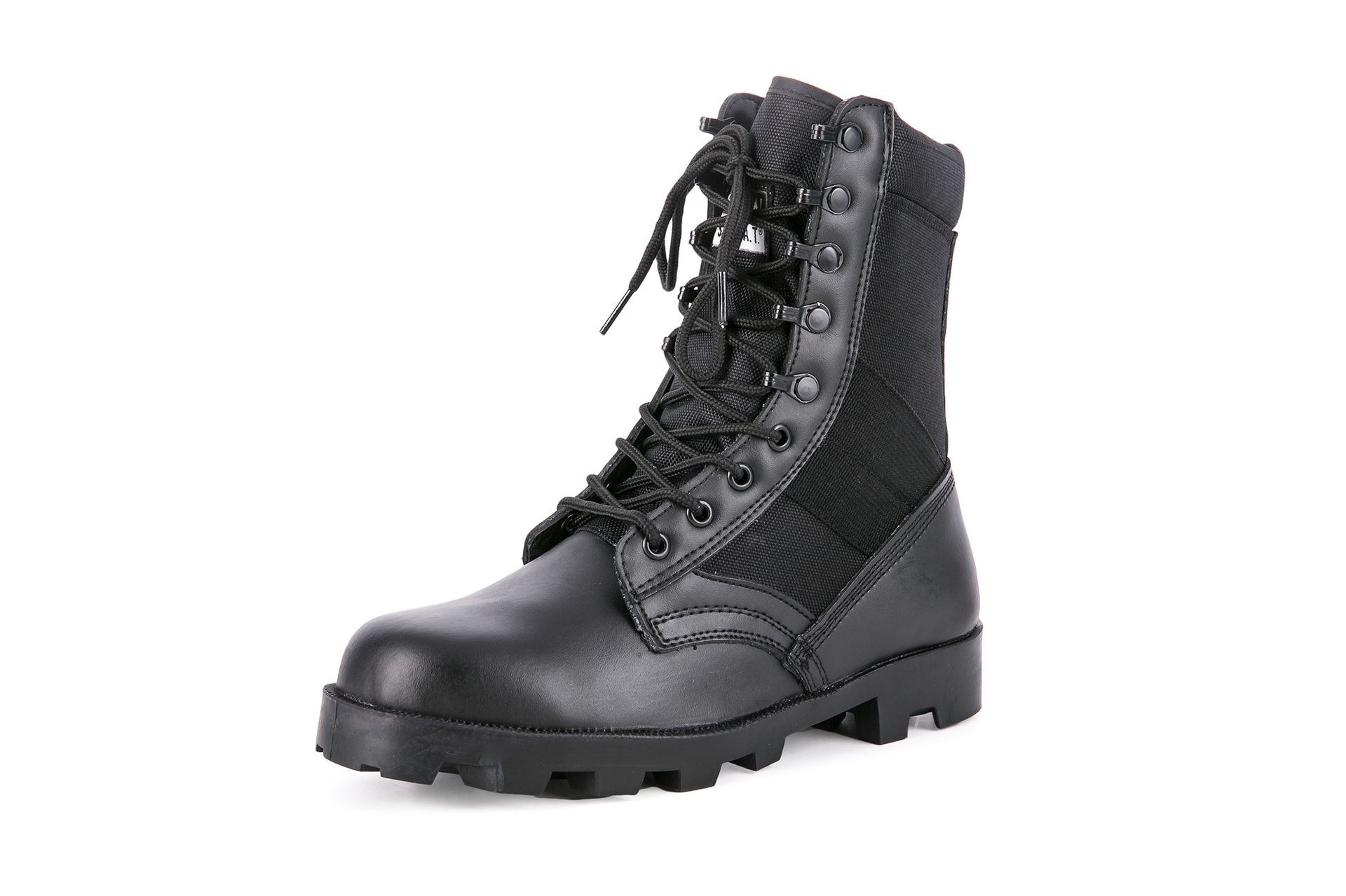 Ultra-Light Tactical Boots For Combat Boots SFB Combat Boots Canvas Breathable CS Hight-top For Combat Boots A Wave Black And Wh