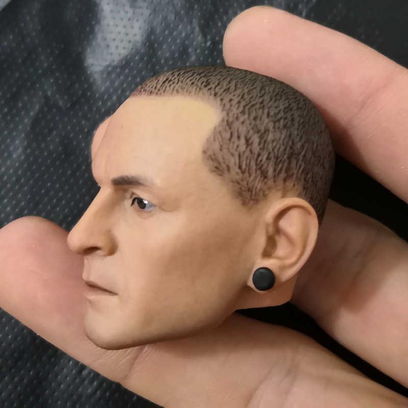 1/6 Bilancia Testa Scolpita Lincoln Park Chester Bennington Testa Sculpt per 12 pollici Figura di Azione Del Corpo della Bambola Da Collezione FAI DA TE